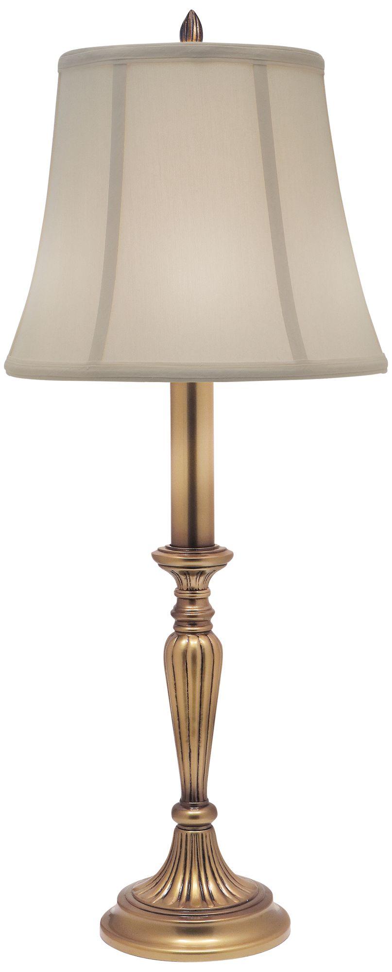 Beautiful Stiffel Antique Brass Buffet Lamp