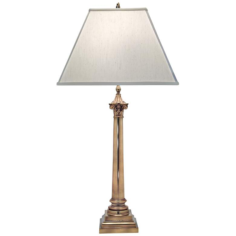 Stiffel Aged Brass Table Lamp
