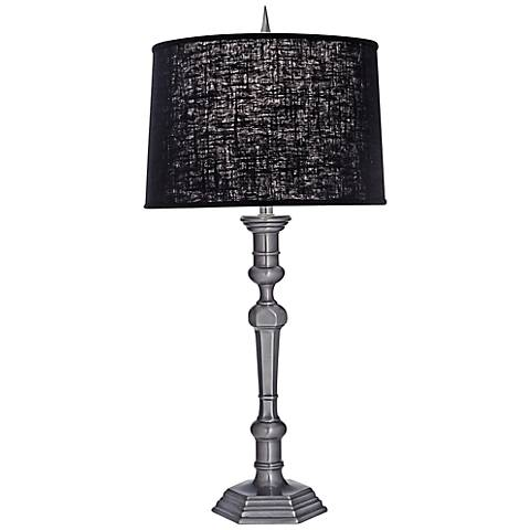 Stiffel Gun Metal And Chelsea Black Table Lamp