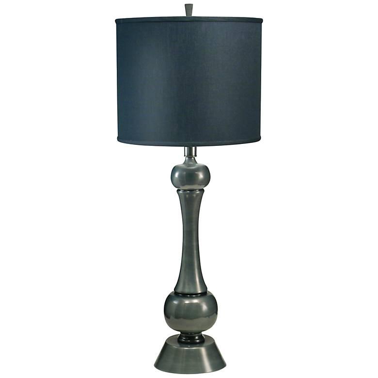 Stiffel Black Shadow And Gun Metal Table Lamp