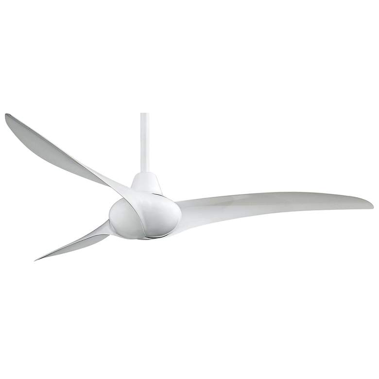 "52"" Minka Aire Wave White Ceiling Fan"
