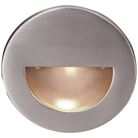 WAC LEDme® Brushed Nickel Round Step Light