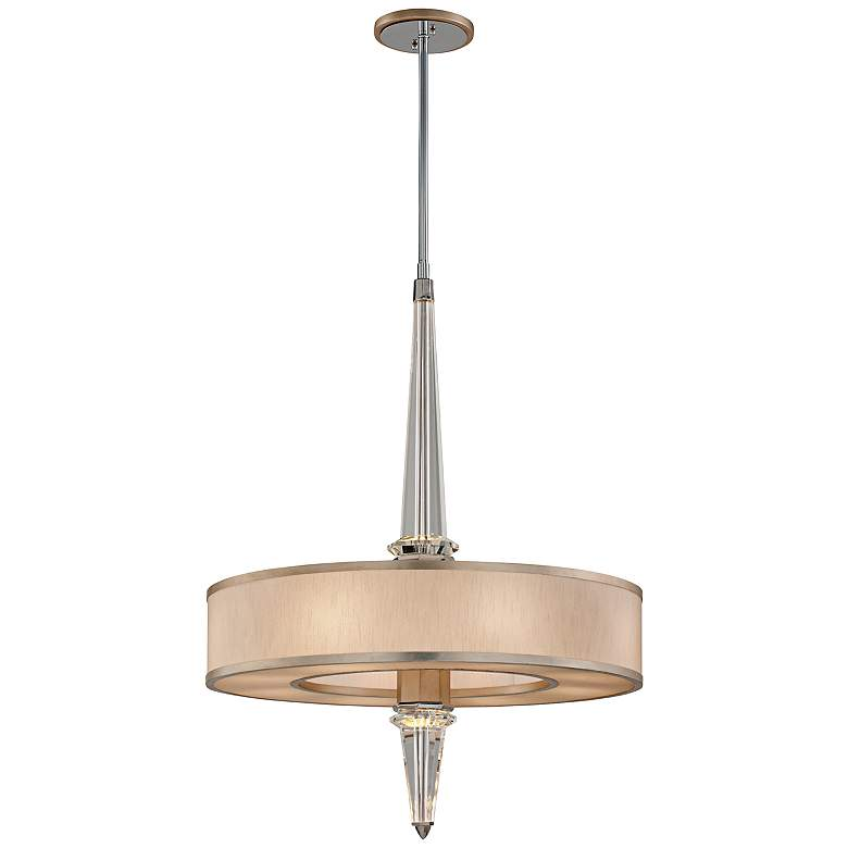 "Corbett Harlow 34"" Wide Silver Leaf Pendant LED Light"