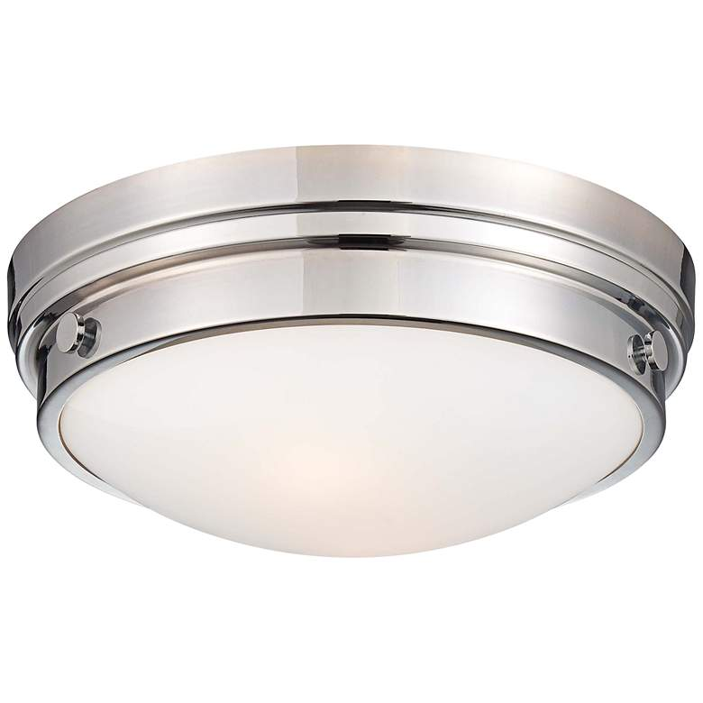 """Culver Collection 13 1/4"""" Wide Chrome Ceiling Light"""