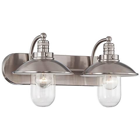 "Downtown Edison 18 1/2"" Wide Brushed Nickel Bathroom Light"