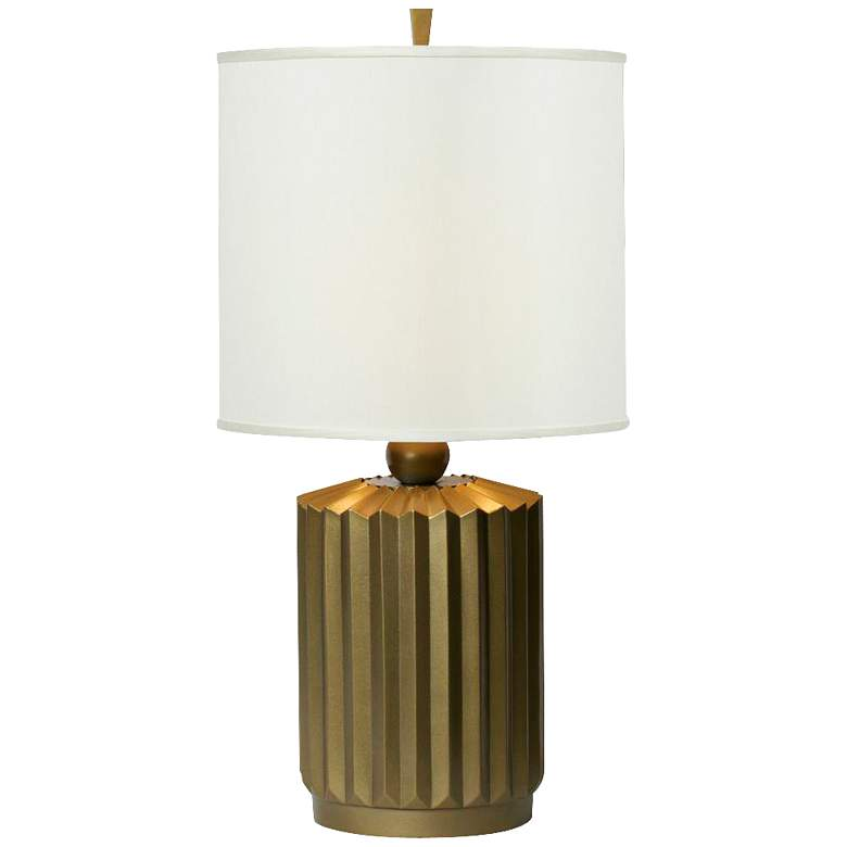 Thumprints Starburst Cast Metal Tinted Copper Table Lamp