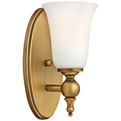 """Hinkley Yorktown 11"""" High Brushed Bronze Wall Sconce"""
