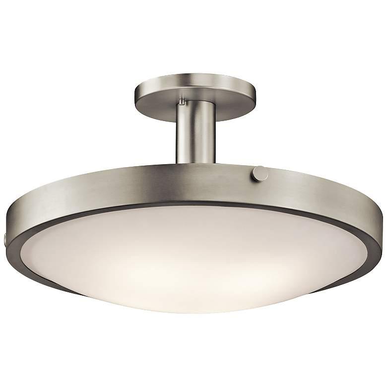 Kichler Lytham Brushed Nickel Satin Glass Ceiling Light