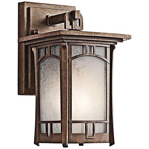 "Kichler Soria 10 1/4"" High Bronze Outdoor Wall Light"