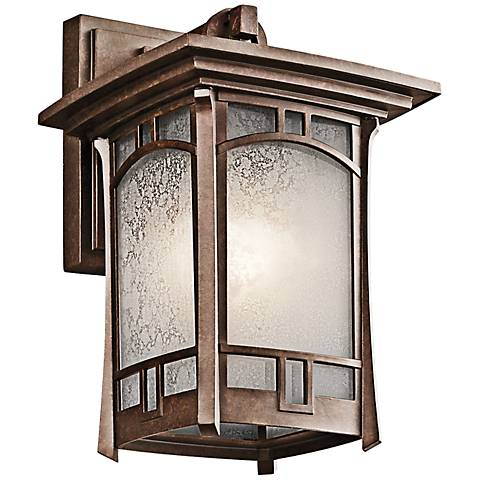 "Kichler Soria 11 3/4"" High Bronze Outdoor Wall Light"