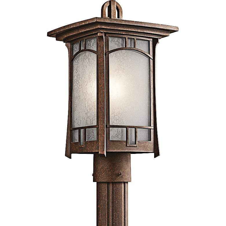 Kichler Soria Aged Bronze Outdoor Post Mount Light