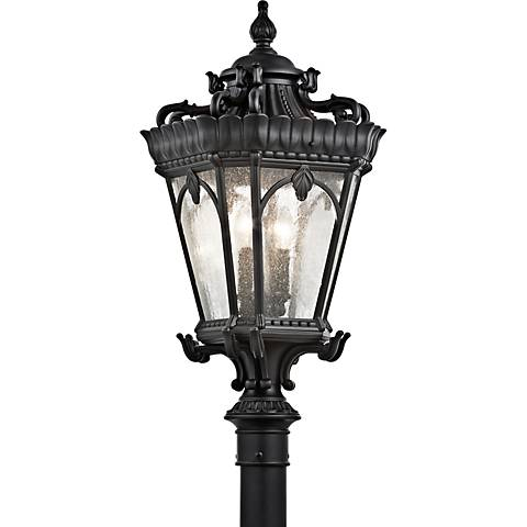"Kichler Tournai 30"" High Black Outdoor Post Light"