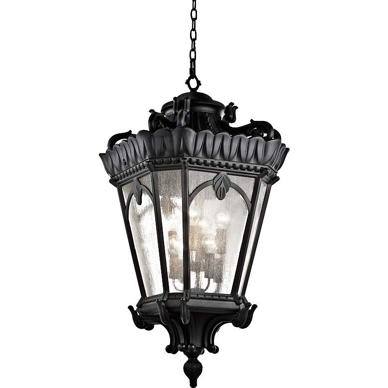 "Kichler Tournai 47 3/4"" High Black Outdoor Hanging Light"