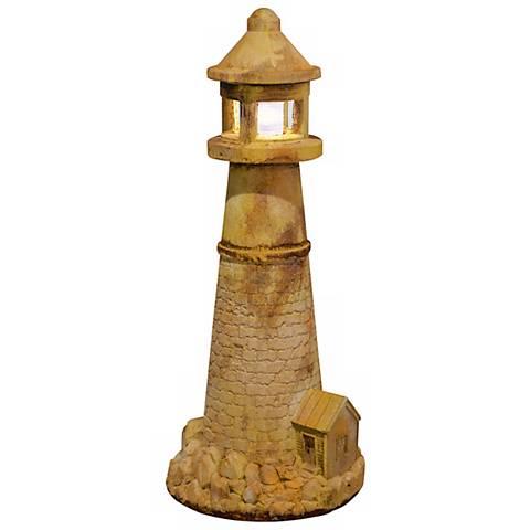 "Henri Studio Lighthouse 44 1/2""H Cast Stone Garden Accent"