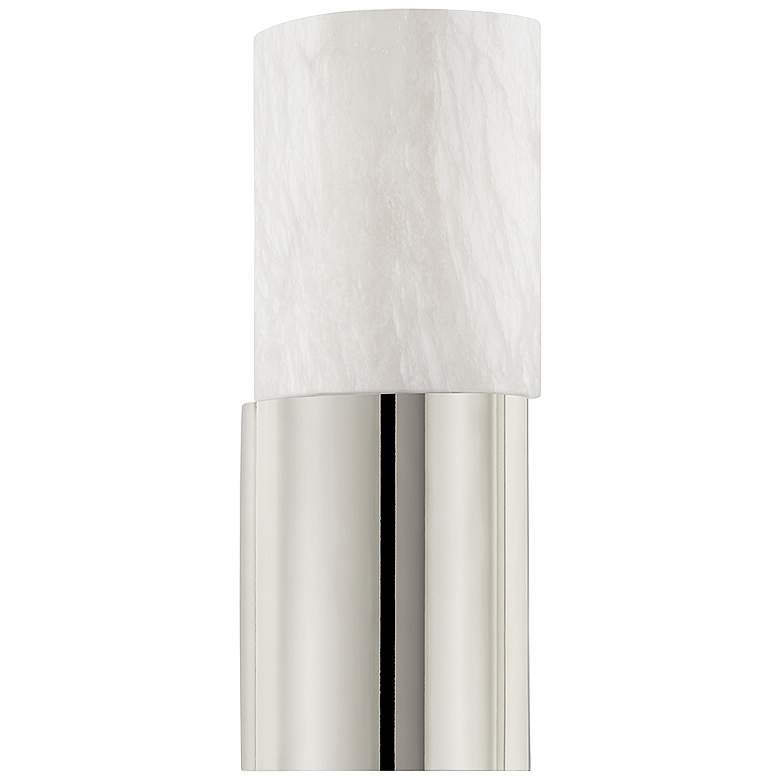 """Hudson Valley Jamesport 13 3/4"""" High Polished Nickel Wall Sconce"""