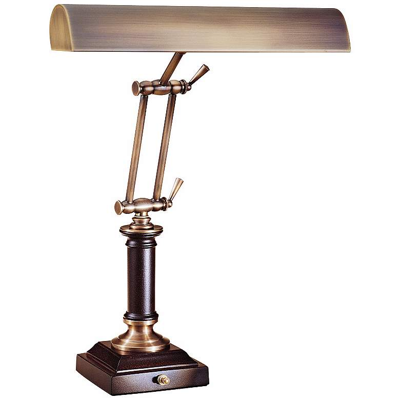 """House of Troy 16 1/2"""" High Chestnut Bronze Piano Desk Lamp"""