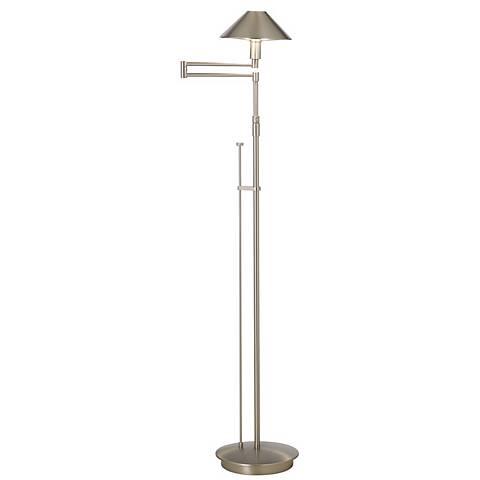 Holtkoetter Satin Nickel Swing Arm Floor Lamp
