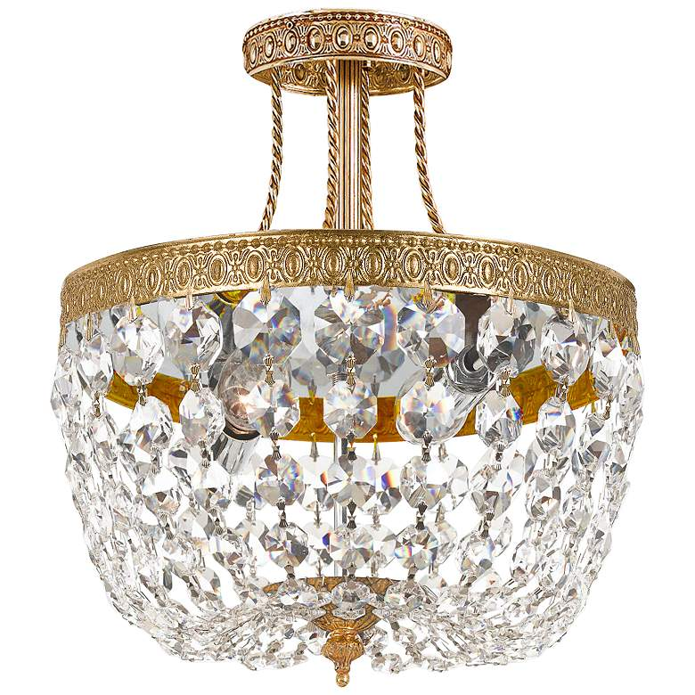 "Majestic Collection 10"" Wide Crystal Ceiling Light"