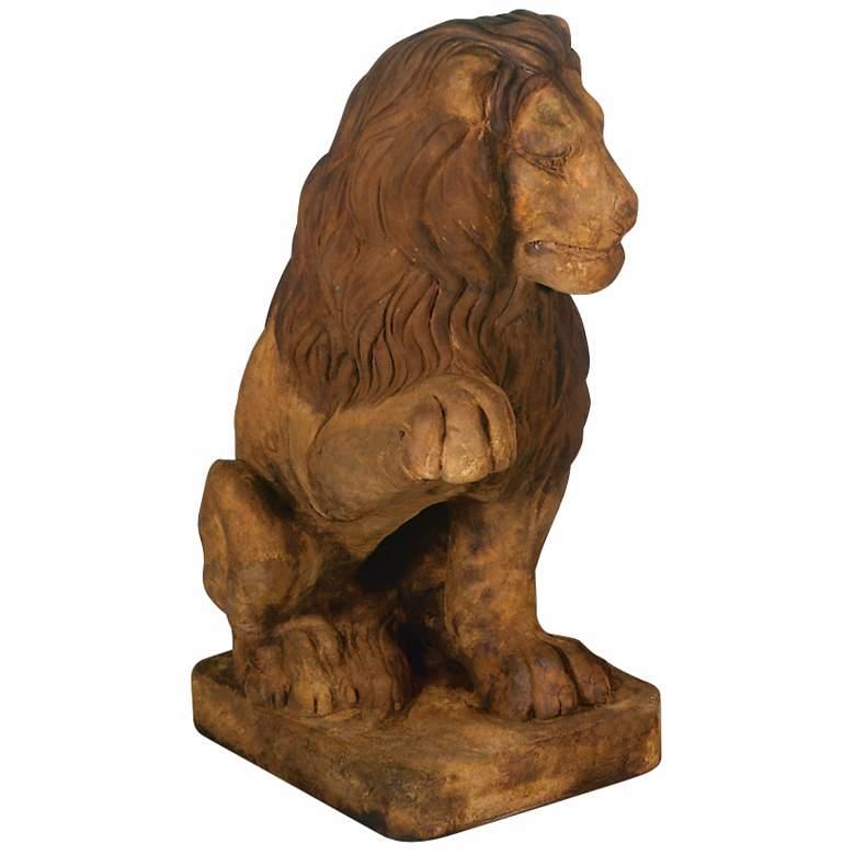 "Henri Studio Lion (Right Paw Up) 24"" High Garden Sculpture"