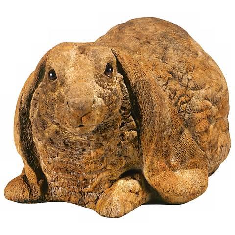 """Henri Studio Crouched Rabbit 10"""" Wide Garden Accent"""