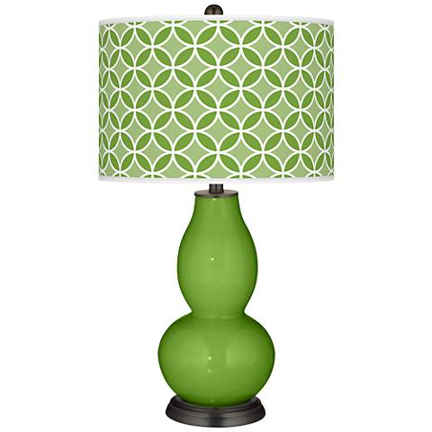 Rosemary Green Circle Rings Double Gourd Table Lamp