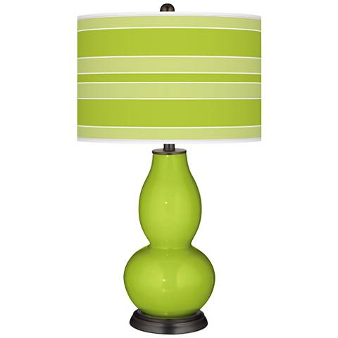 Tender Shoots Bold Stripe Double Gourd Table Lamp