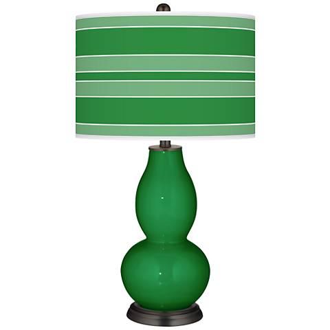 Envy Bold Stripe Double Gourd Table Lamp