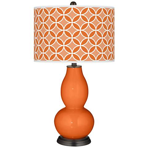 Invigorate Circle Rings Double Gourd Table Lamp
