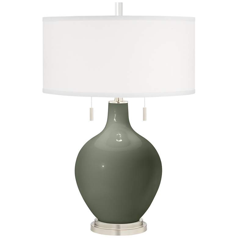Deep Lichen Green Toby Table Lamp
