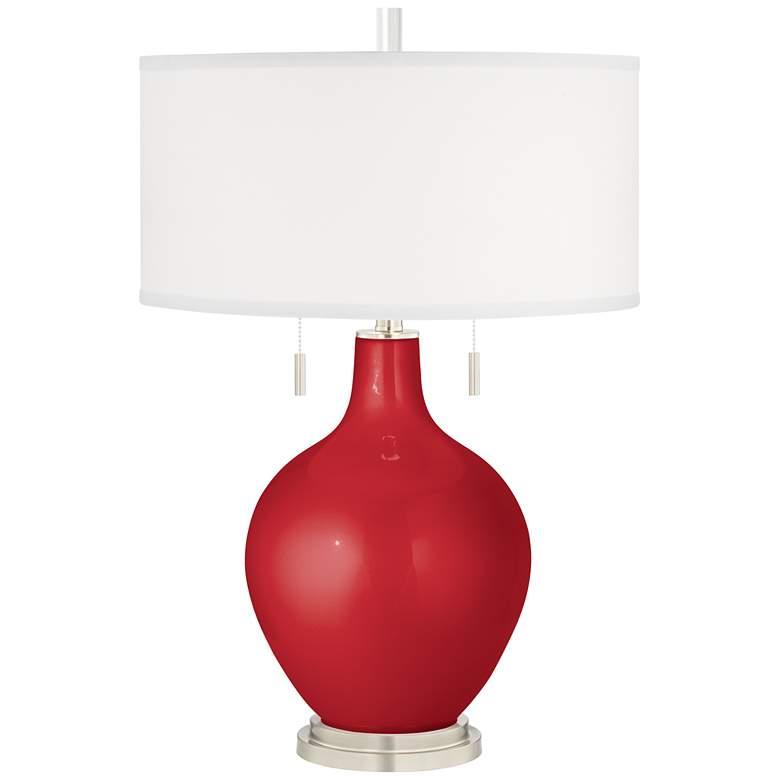 Sangria Metallic Toby Table Lamp