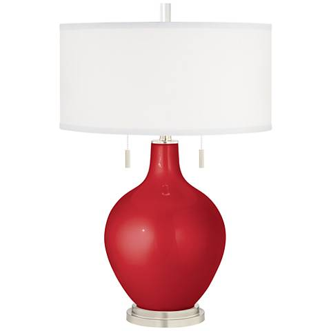 Sangria Metallic Toby Table Lamp