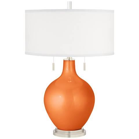 Burnt Orange Metallic Toby Table Lamp