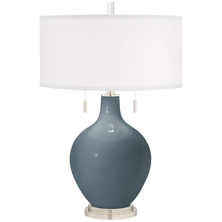 Smoky Blue Toby Table Lamp