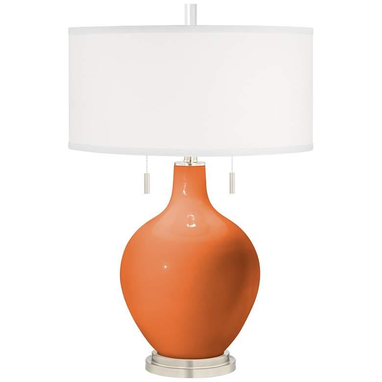 Celosia Orange Toby Table Lamp