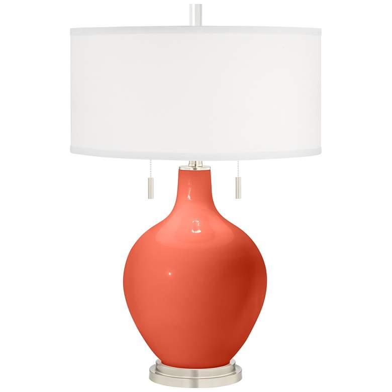 Daring Orange Toby Table Lamp
