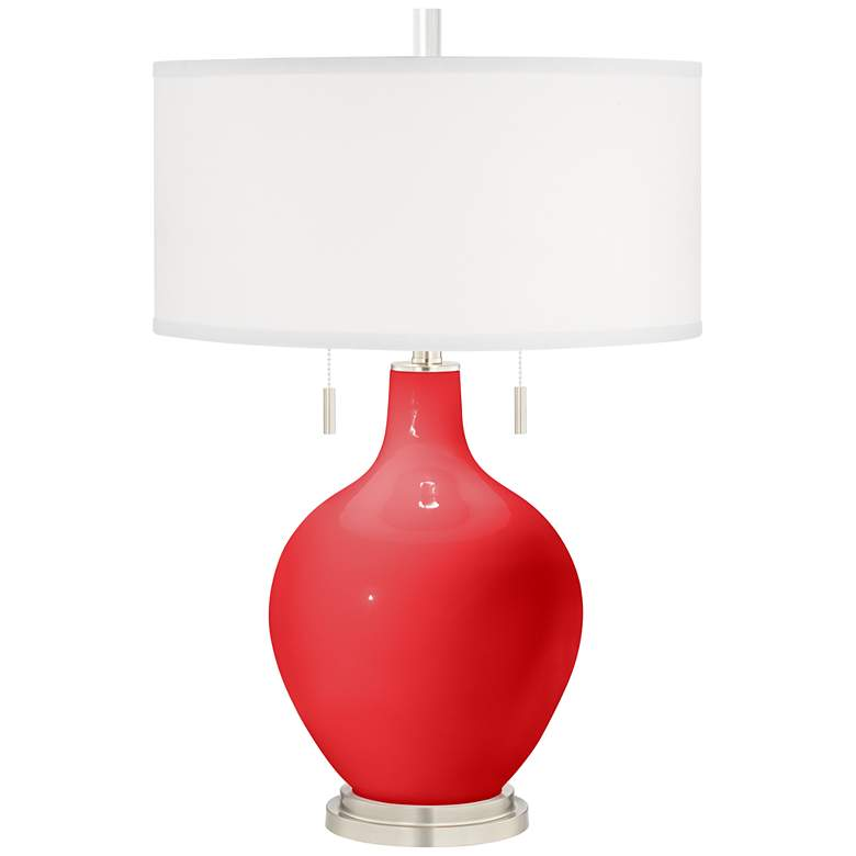Poppy Red Toby Table Lamp