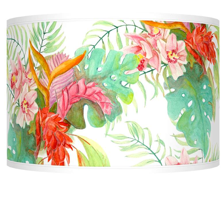 Island Floral Giclee Shade 12x12x8.5 (Spider)