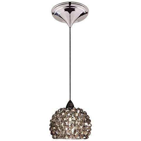 "WAC Gia 4 1/2""W Chrome Ice Diamond Dome LED Mini Pendant"