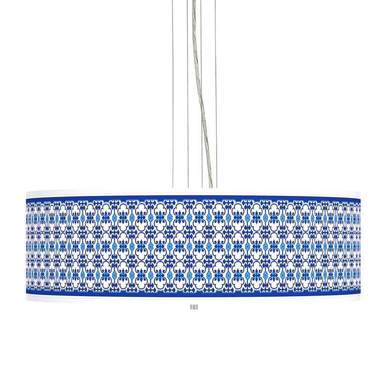 "Indigo Path Giclee 24"" Wide 4-Light Pendant Chandelier"