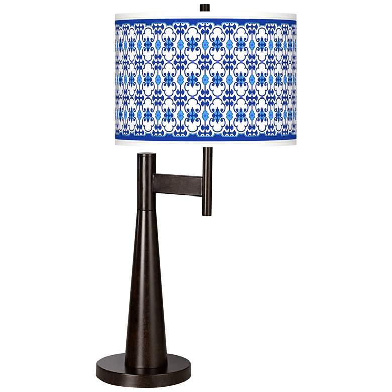 Indigo Path Giclee Novo Table Lamp