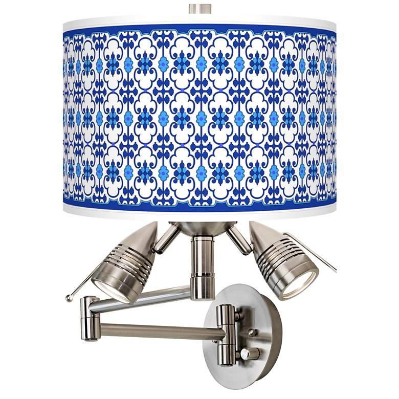 Indigo Path Giclee Swing Arm Wall Lamp