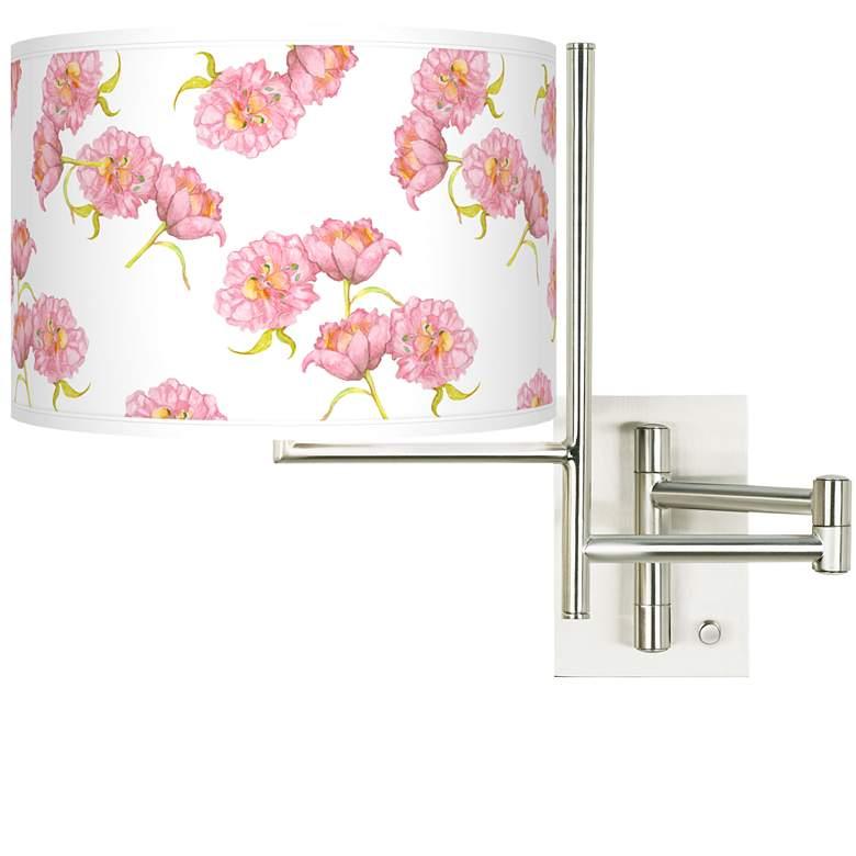 Tempo Pretty Peonies Plug-in Swing Arm Wall Lamp