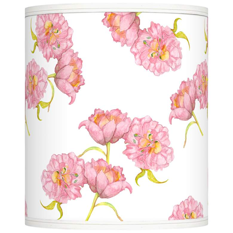 Pretty Peonies Giclee Shade 10x10x12 (Spider)
