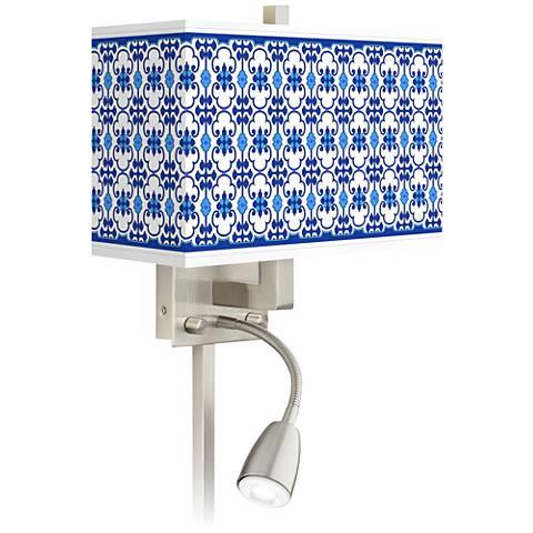 Indigo Path Giclee Glow LED Reading Light Plug-In Sconce