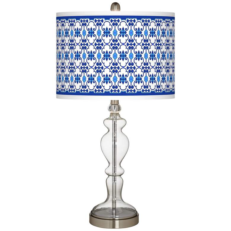 Indigo Path Giclee Apothecary Clear Glass Table Lamp