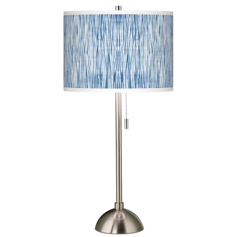 Beachcomb Giclee Brushed Nickel Table Lamp