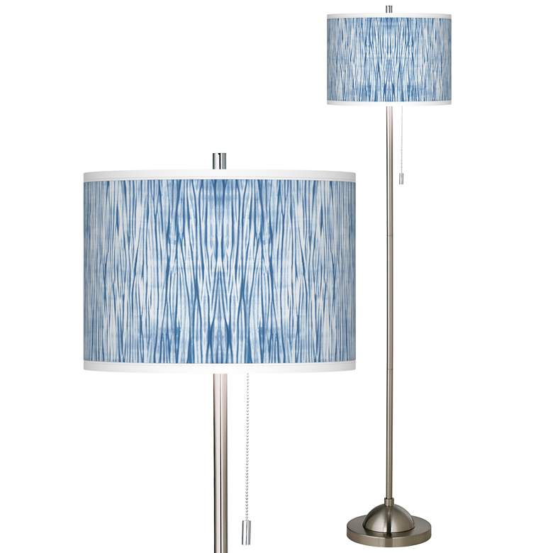 Beachcomb Brushed Nickel Pull Chain Floor Lamp