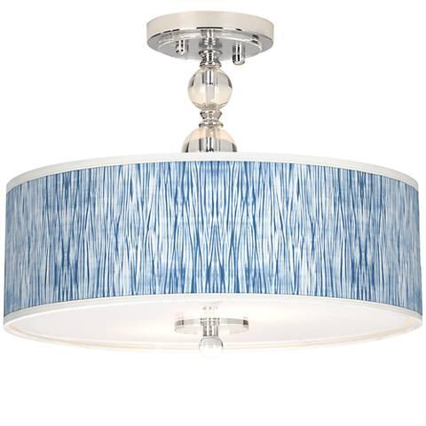 "Beachcomb Giclee 16"" Wide Semi-Flush Ceiling Light"