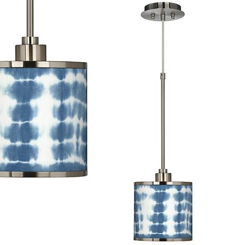 Shibori Surf Giclee Glow Mini Pendant Light