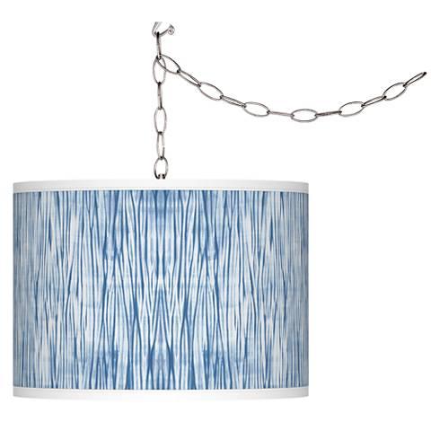 Beachcomb Giclee Glow Plug-In Swag Pendant